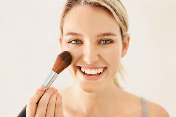 blush party makeup
